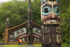 USA, Alaska, Inside Passage, Ketchikan, Totem Bight, State Historic Site